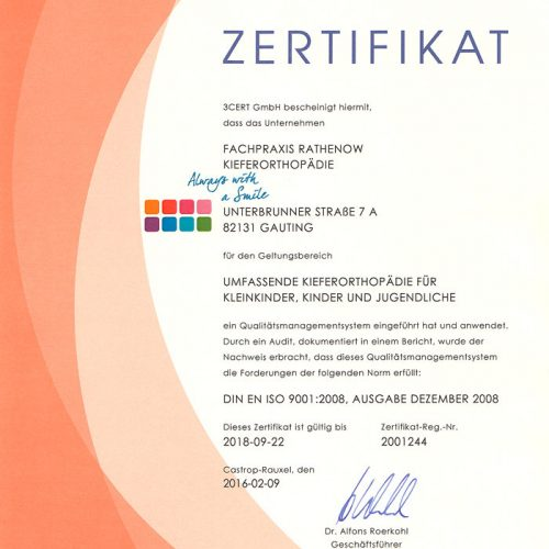 Qualitätsmanagement | 3Cert Zertifikat
