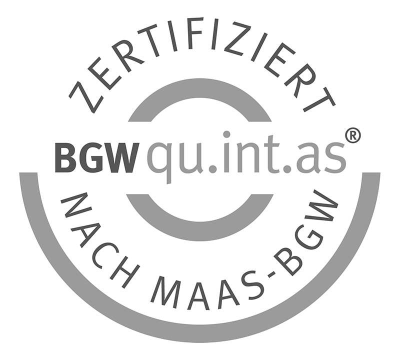 Qualitätsmanagement - BGW qu.int.as zertifiziert